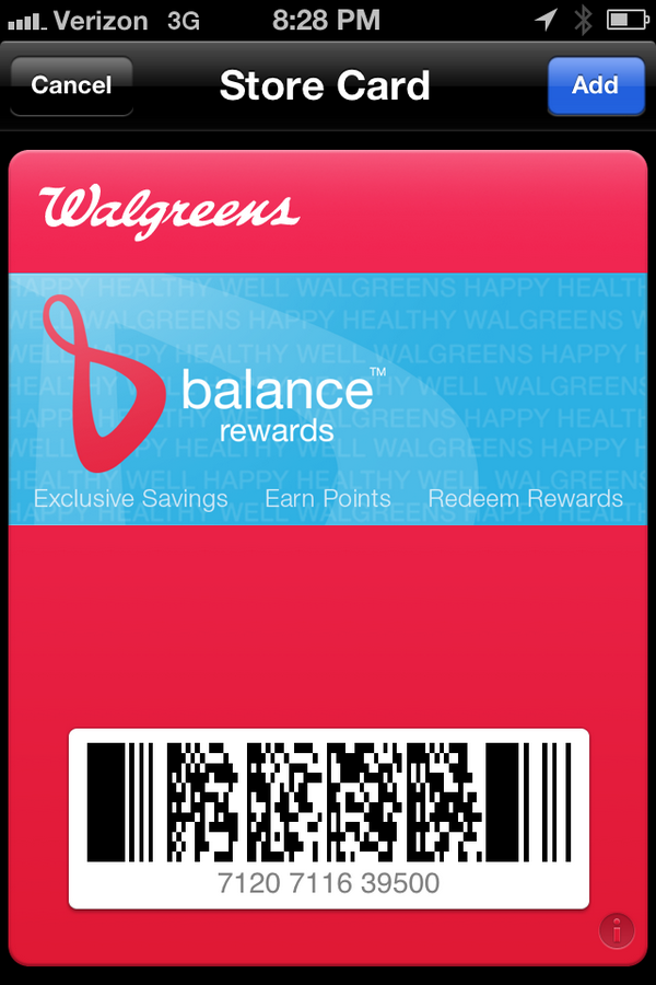 Walgreens Shopping App Balance Rewards Card