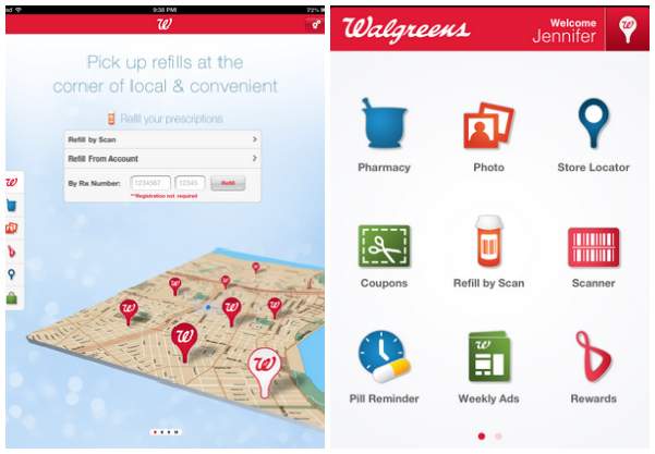 Walgreens Shopping App Home Screen
