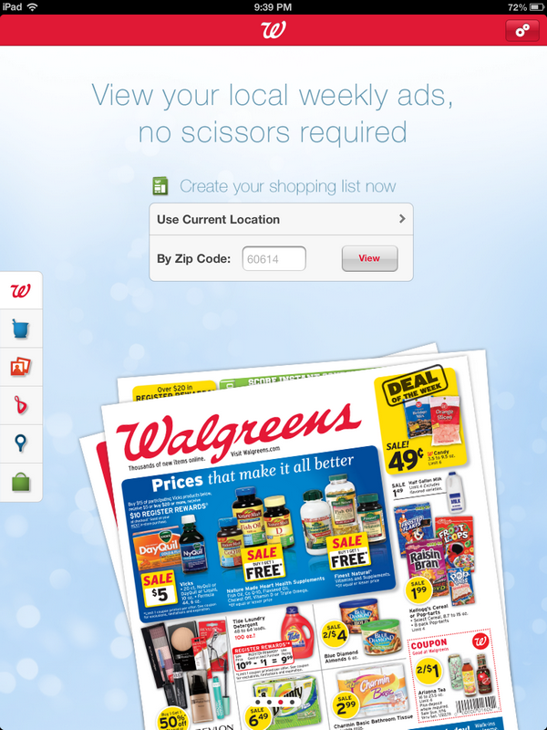Walgreens Shopping App Local Ad