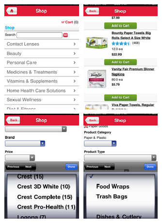Walgreens Shopping App Shopping Collage