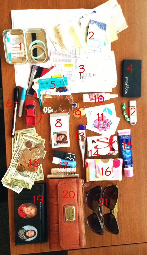 What S In My Purse A Whole Lot Of Stuff I Don T Really Use