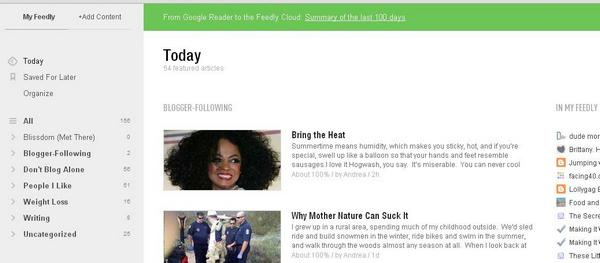 Alternatives to Google Reader - Feedly