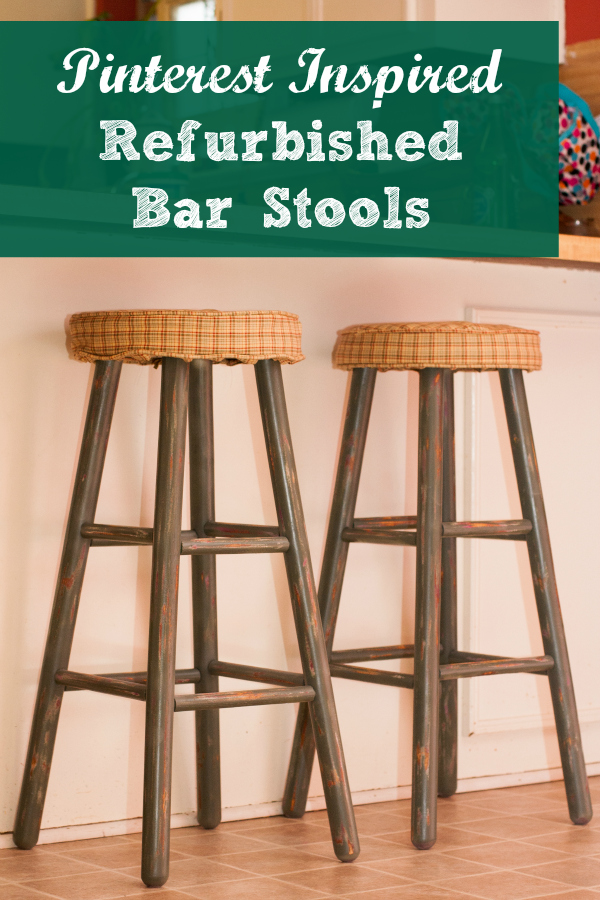 pinterest inspired, refurbished bar stools, craft project, around the house, hobbies, distressed painting project