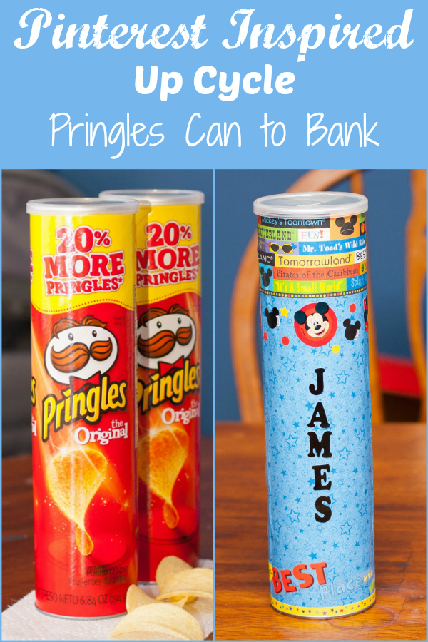 Pinterest Inspired Up Cycle - Pringles Can to Piggy Bank