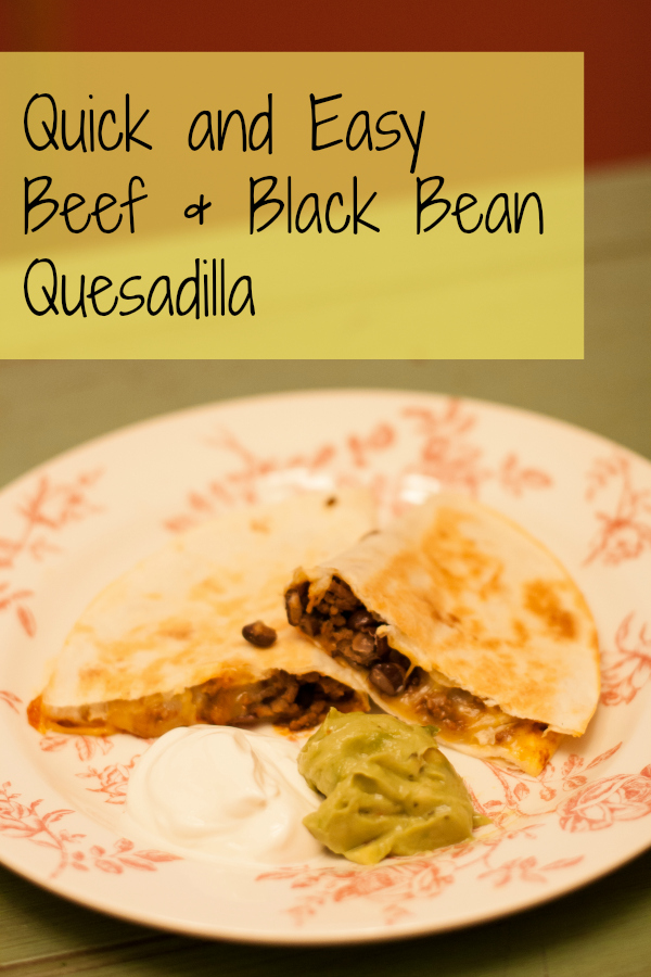 Beef and Black Bean Quesadillas, A quick and easy weeknight dinner, Recipe