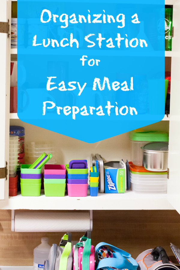 lunch station, meal preparation, school lunches, children, kids, being a mom, parenting