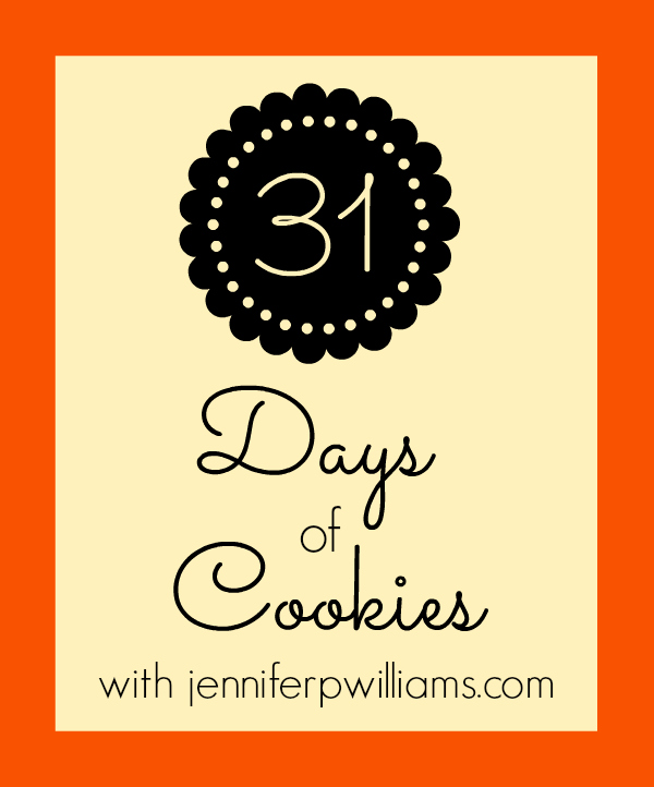 31 days of cookies, 31 days in 2013, cookie recipes, around the house, homebody, cooking, baking