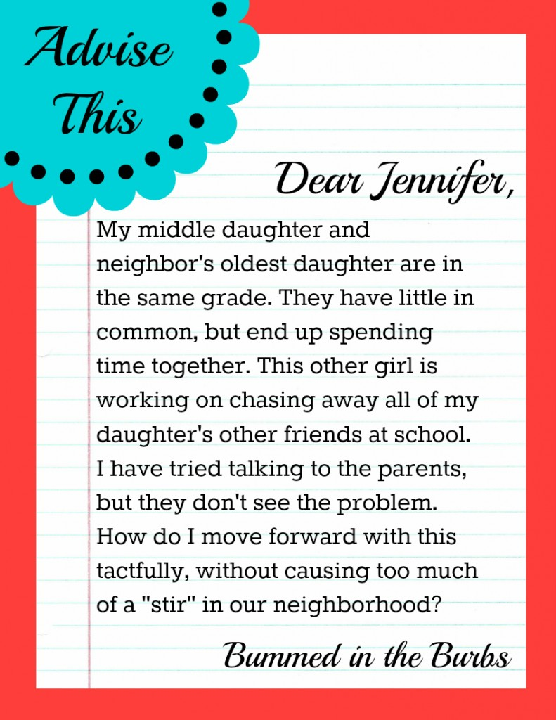 Real Life Advice Column, Neighbor Disputes, Friends, School Days, Children, Parenting