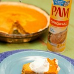 The perfect pumpkin pie with PAM Cooking Spray.