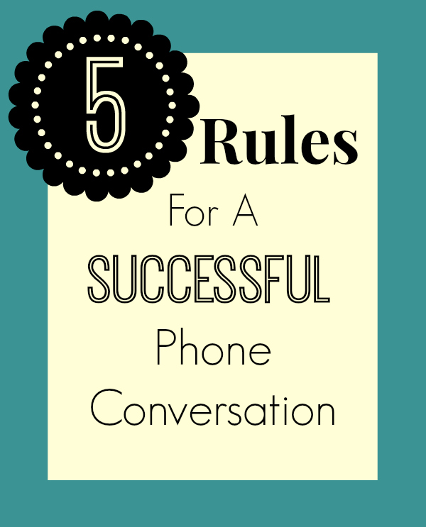 Dating phone call rules