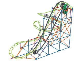 The Typhoon Frenzy Roller Coaster Building Set makes a great Christmas gift for the kid in your life.