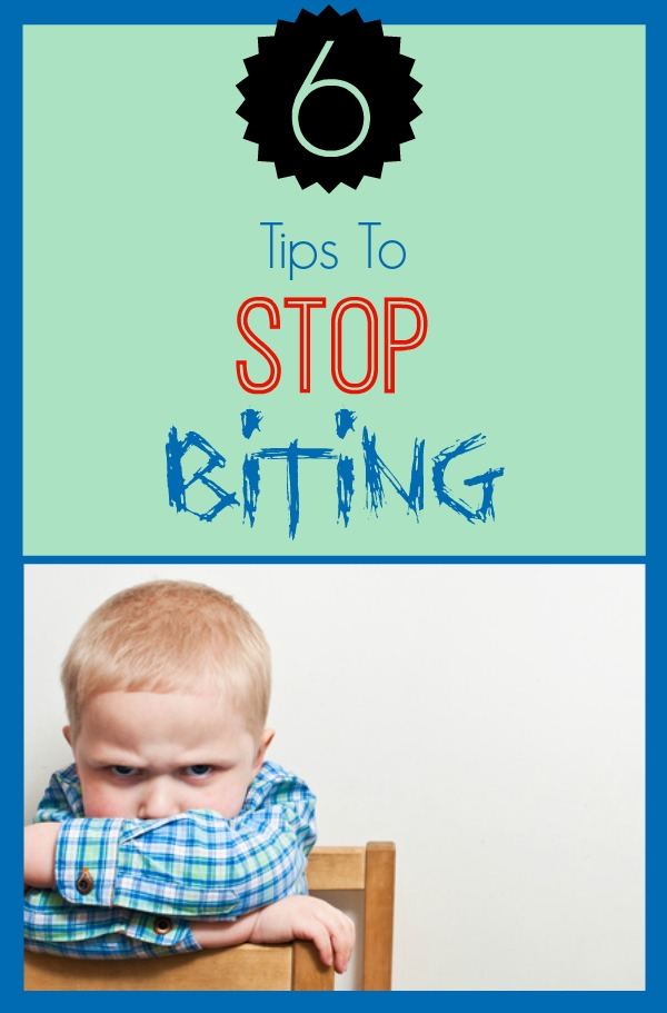 Here are six tips to stop biting.