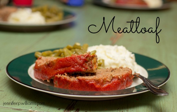 Meatloaf is yummy choice for a ground beef dinner recipe.