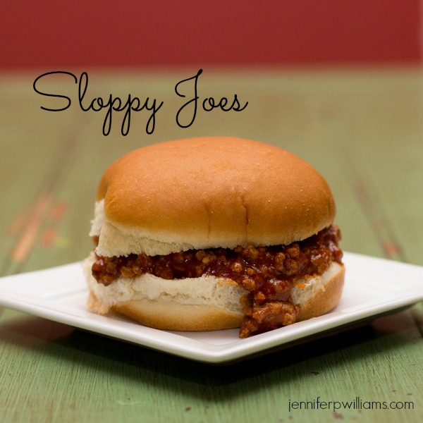 Sloppy joes are a classic favorite ground beef  recipe.