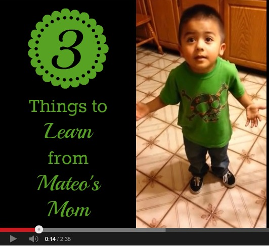 Cute or disrespectful? Here are three things I think we can learn from Mateo's Mom.