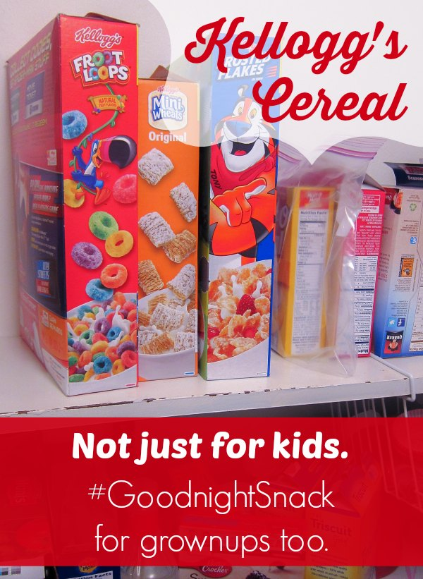 Kellogg's cereal makes a good night snack for kids and grownups. #GoodNightSnack #Shop