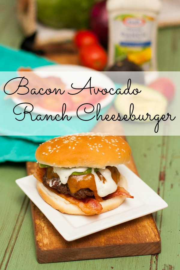 Bacon Avocado Ranch Cheeseburger