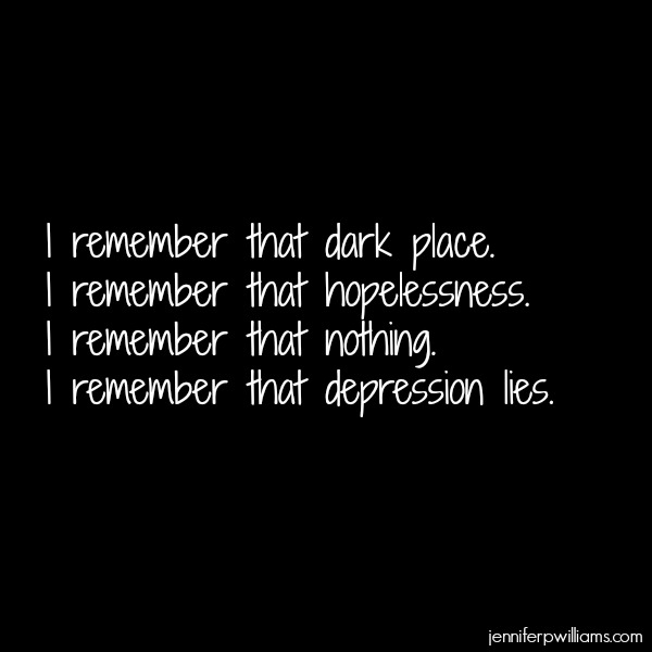 Depression Lies - This is my story.