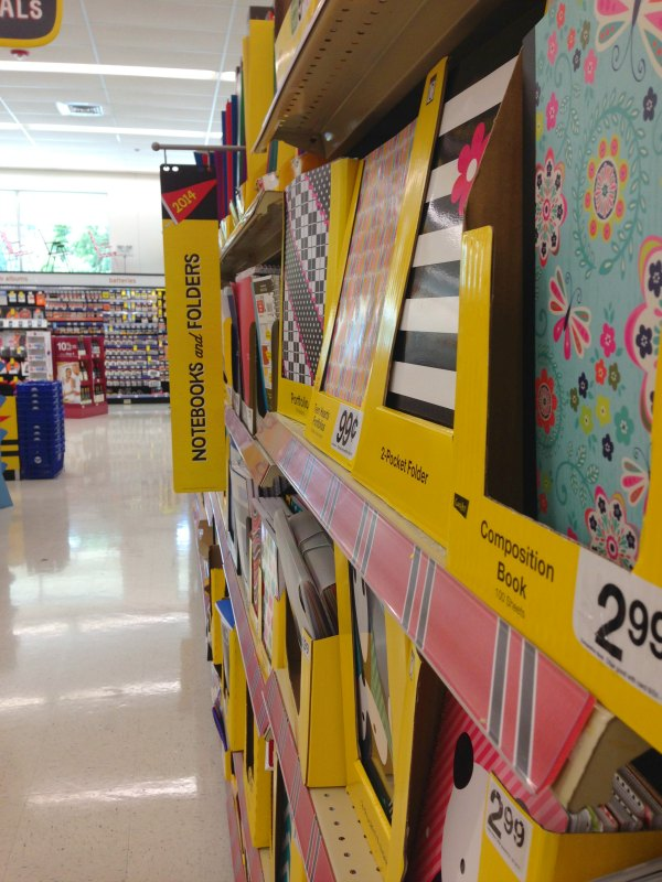 Visit the back to school aisle at Walgreens.