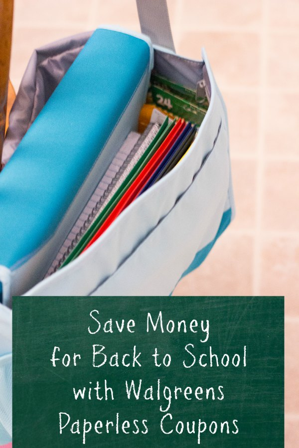 Walgreens paperless coupons saves you money for your Back to School shopping.