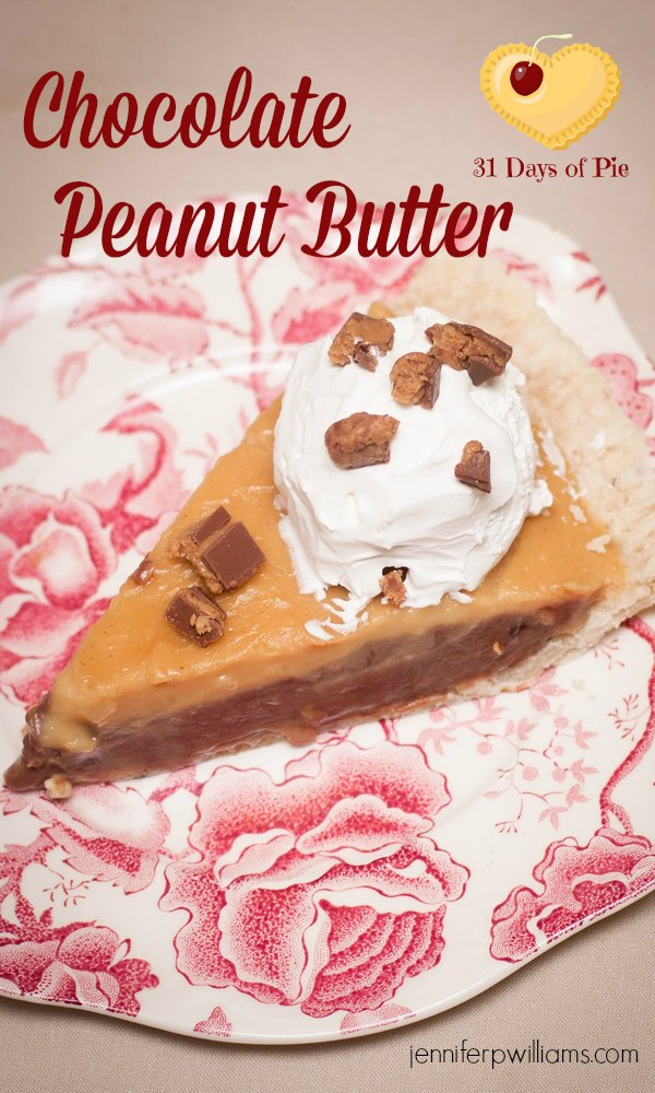 This Chocolate Peanut Butter pie tastes just like that candy that comes in a cup. You'll love it!