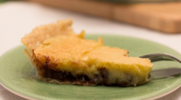 A layer of semi-sweet chocolate combined with a layer of vanilla filling makes the Derby Pie a delicious choice.