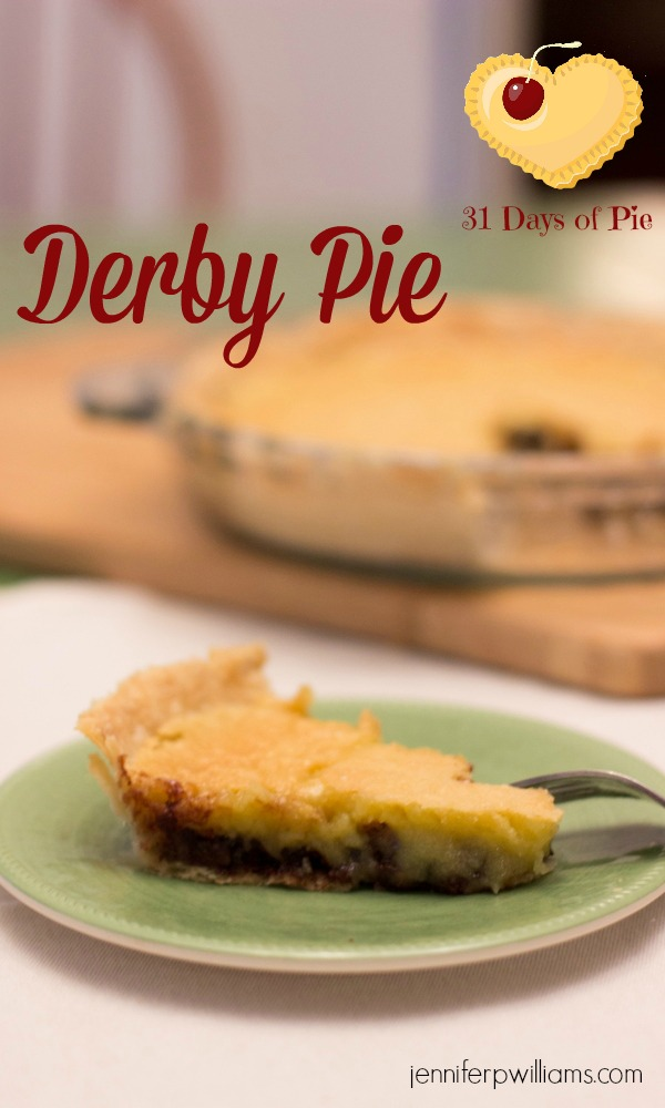 Derby Pie is rich, delicious, and easy to make. A great pie alternative when you want something chocolatey.