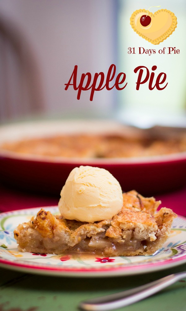 Lattice Apple Pie - What's better than apple pie topped with vanilla ice cream? Nothing!