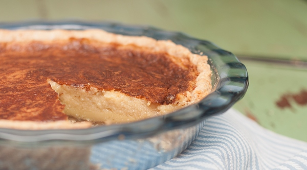 Cinnamon Buttermilk Pie is delicious and is made with ingredients you already have!