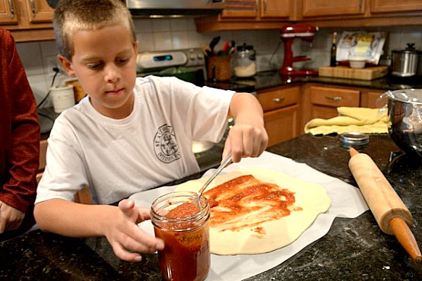 Kid love to help make this easy pizza dough recipe.