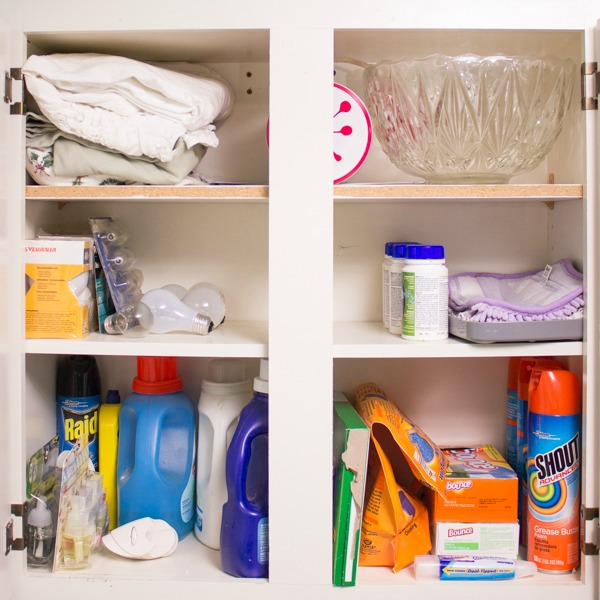 Organize your cabinets as part of your spring cleaning.