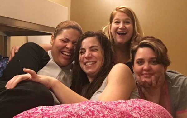 BlogHer16 - A Good Friend Takes Photos with You on the Hotel's Bathroom Floor