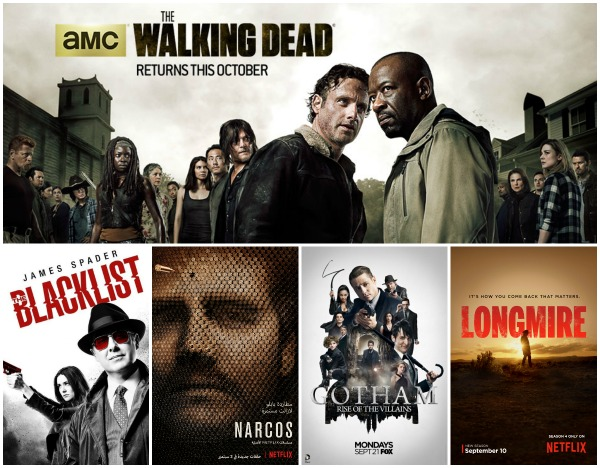 Returning to Netflix September 2016 - Narcos, Blacklist, The Walking Dead, Gotham, and Longmire